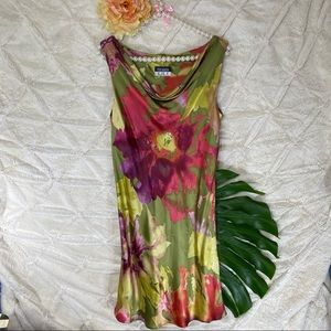 Beautiful Silk Floral Dress